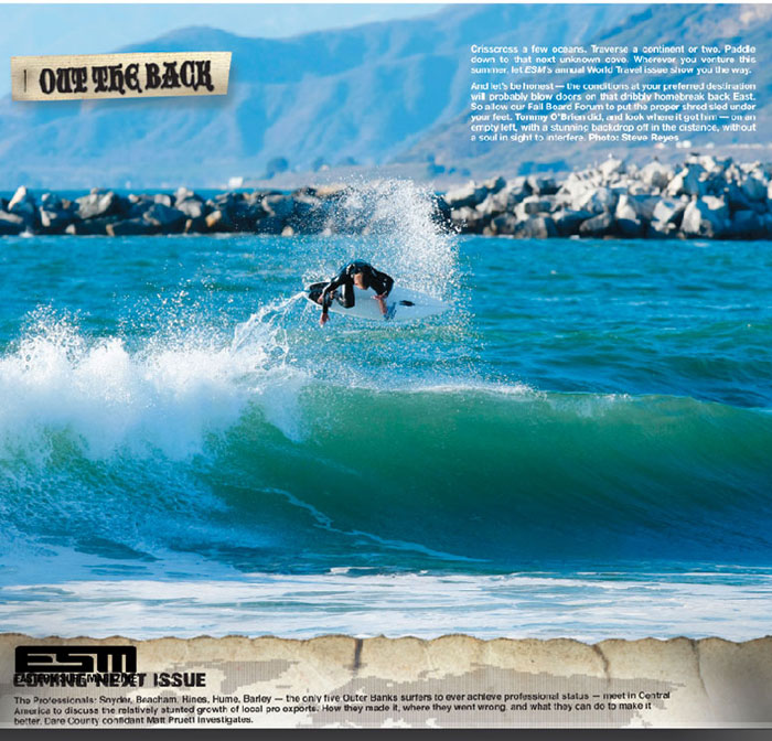 Out the Back. Eastern Surf Magazine